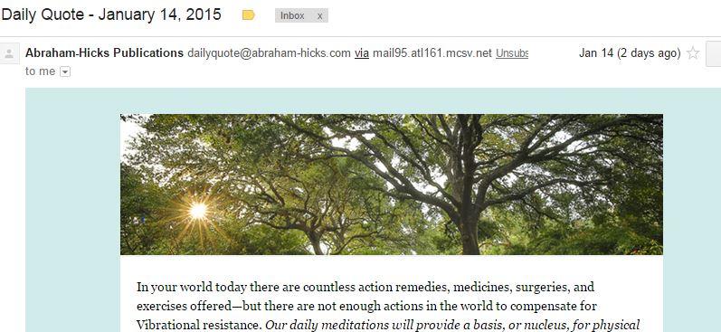 Abraham-Hicks Tree Banner Snip