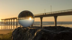 crystal ball bridge sunrise